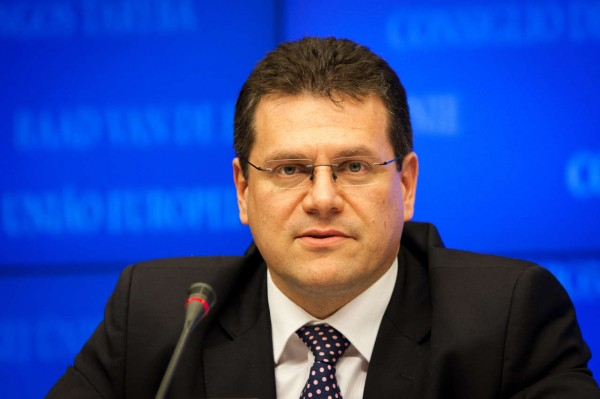 Marosh Shefchovich in February will hold talks on the Southern gas corridor