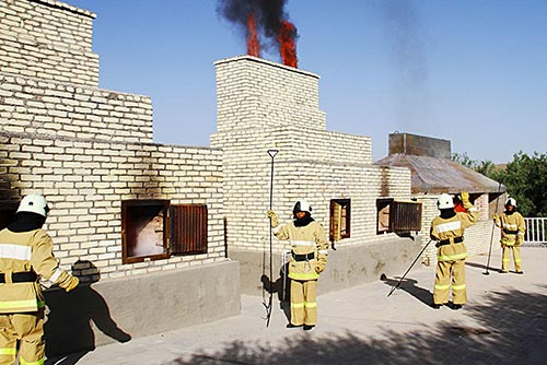Narcotic drugs and counterfeit cigarettes burned in Turkmenistan